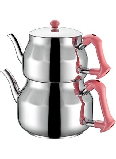 TAÇ Asya Aile Boy Çaydanlık - Pembe-Taç Mutfak